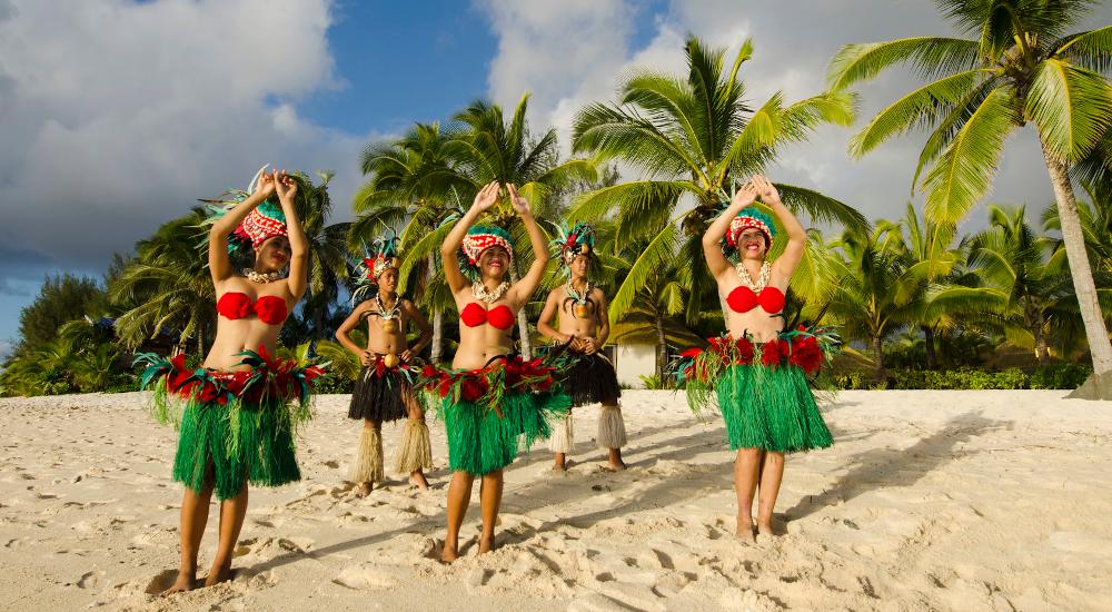 Ori Tahiti Tänzerinnen am Strand